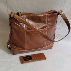 Tignanello Purse Large Brown leather